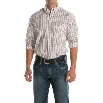 Panhandle Select Plaid Shirt - Long Sleeve (For Men) in Stone - Closeouts