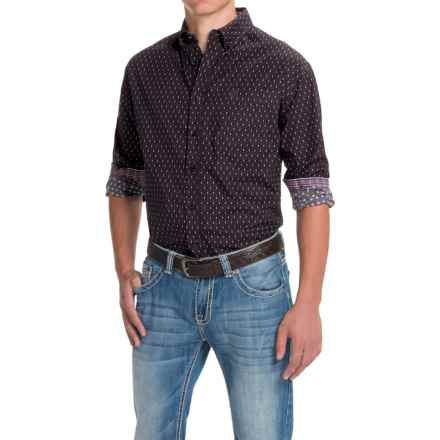 Panhandle Select Poplin Mini-Triangle Print Shirt - Long Sleeve (For Men) in Aubergine - Closeouts