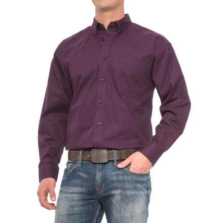 Panhandle Select Poplin Print Shirt - Long Sleeve (For Men) in Aubergine - Closeouts