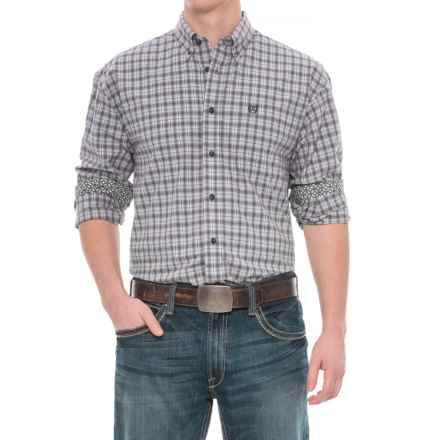 Panhandle Select Poplin Print Shirt - Long Sleeve (For Men) in Grey - Closeouts