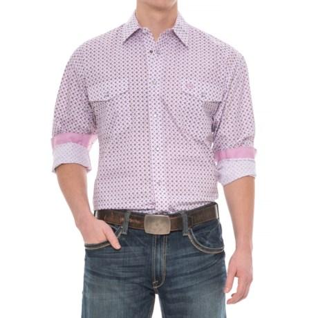 Panhandle Select Poplin Print Shirt - Long Sleeve (For Men) in Purple