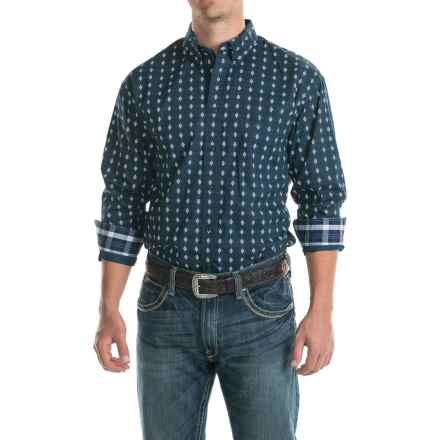 Panhandle Select Printed Patch-Pocket Shirt - Long Sleeve (For Men) in Navy Print - Closeouts