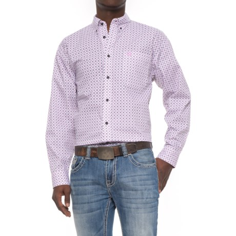 Panhandle Select Printed Shirt - Long Sleeve (For Men) in Blush