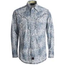Panhandle Slim 90 Proof Distressed Wash Paisley Print Western Shirt - Snap Front, Long Sleeve (For Men) in Grey - Closeouts