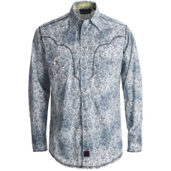 Panhandle Slim 90 Proof Distressed Wash Paisley Print Western Shirt - Snap Front, Long Sleeve (For Men) in Grey