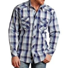 Panhandle Slim 90 Proof Dobby Plaid Shirt - Long Sleeve (For Men) in Navy - Closeouts