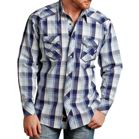 Panhandle Slim 90 Proof Dobby Plaid Shirt Long Sleeve (For Men)