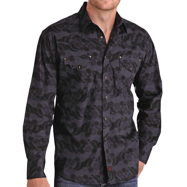 Panhandle Slim 90 Proof Floral Paisley Western Shirt
