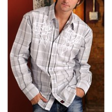 Panhandle Slim 90 Proof Lurex® Plaid Embroidered Western Shirt - Snap Front, Long Sleeve (For Men) in White - Closeouts