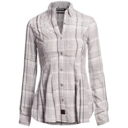 Panhandle Slim 90 Proof Lurex® Plaid Western Shirt - Snap Front, Long Sleeve (For Women) in White/Grey
