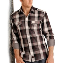 Panhandle Slim 90 Proof Plaid Shirt - Long Sleeve (For Men) in Grey - Closeouts