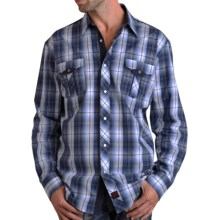 Panhandle Slim 90 Proof Plaid Snap Western Shirt - Long Sleeve (For Men) in Blue - Closeouts