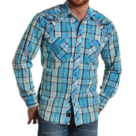 Panhandle Slim 90 Proof Plaid Western Shirt - Snap Front, Long Sleeve (For Men) in Blue - Closeouts