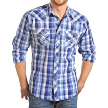 Panhandle Slim 90 Proof Poplin Plaid Shirt - Snap Front, Long Sleeve (For Men) in Blue - Closeouts