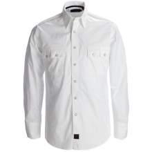 Panhandle Slim 90 Proof Sateen Screenprint Western Shirt - Snap Front, Long Sleeve (For Men) in White - Closeouts