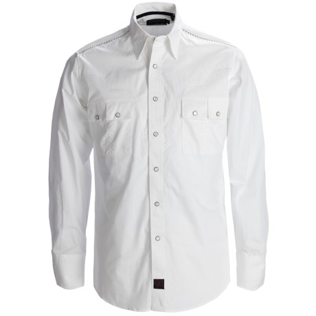 Panhandle Slim 90 Proof Sateen Screenprint Western Shirt - Snap Front, Long Sleeve (For Men) in White