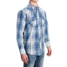 Panhandle Slim 90 Proof Snow-Washed Plaid Shirt - Snap Front, Long Sleeve (For Men) in White/Blue - Closeouts