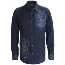Panhandle Slim 90 Proof Western Shirt - Birdseye, Snap Front, Long Sleeve Shirt (For Men) in Navy - Closeouts