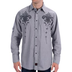 Panhandle Slim 90 Proof Western Shirt - Micro-Stripe, Snap Front, Long Sleeve (For Men) in Black