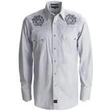 Panhandle Slim 90 Proof Western Shirt - Micro-Stripe, Snap Front, Long Sleeve (For Men) in Grey - Closeouts
