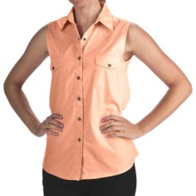 Panhandle Slim Bandera Shirt - 4 oz. Cotton Twill, Snap Front, Sleeveless (For Women) in Peach - Closeouts