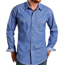 Panhandle Slim Bay Street Vintage Shirt - Snap Front, Long Sleeve (For Men) in Blue - Closeouts