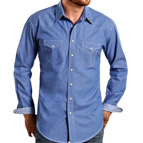 Panhandle Slim Bay Street Vintage Shirt Snap Front, Long Sleeve (For Men)