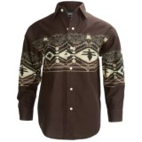 Panhandle Slim Border Print Shirt - Snap Front, Long Sleeve (For Boys)