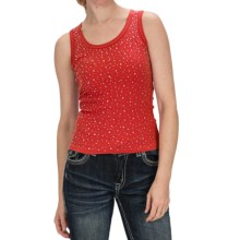 Panhandle Slim Clubwear Studded Tank Top (For Women) in Red - Closeouts