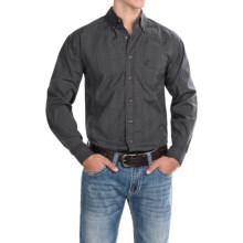 Panhandle Slim Competition Fit Plaid Shirt - Button Front, Long Sleeve (For Men) in Black - Closeouts