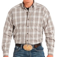 Panhandle Slim Competition Fit Plaid Shirt - Button Front, Long Sleeve (For Men) in Brown/Tan - Closeouts