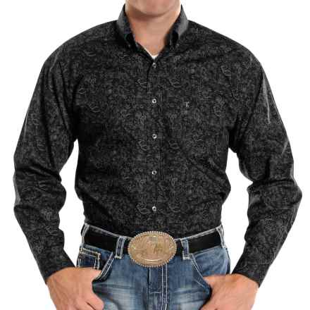 Panhandle Slim Competition Fit Print Shirt - Button Front, Long Sleeve (For Men) in Black - Closeouts