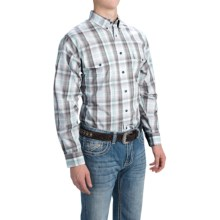 Panhandle Slim Country Plaid Western Shirt - Button-Down, Long Sleeve (For Men) in Silver - Closeouts