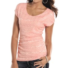 Panhandle Slim Feelin' Good Shirt - Short Sleeve (For Women) in Blush - Closeouts