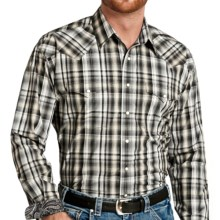 Panhandle Slim Hayden Plaid Shirt - Snap Front, Long Sleeve (For Men) in Steel - Closeouts