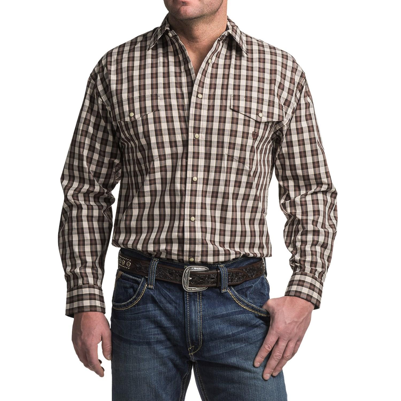 Panhandle Slim Peach Poplin Shirt For Men Save 60