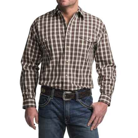 Panhandle Slim Peach Poplin Shirt - Snap Front, Long Sleeve (For Men) in Brown - Closeouts