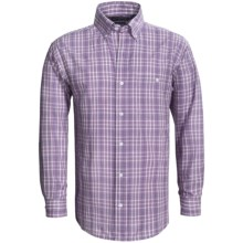Panhandle Slim Peached Poplin Print Shirt - Button Front, Long Sleeve (For Men) in Purple - Closeouts