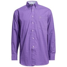 Panhandle Slim Peached Poplin Print Shirt - Long Sleeve (For Men) in Light Purple - Closeouts