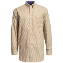 Panhandle Slim Peached Poplin Print Shirt - Long Sleeve (For Men) in Tan - Closeouts