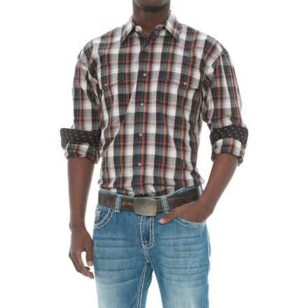 Panhandle Slim Plaid Shirt - Long Sleeve (For Men) in Brown - Closeouts
