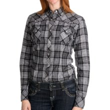 Panhandle Slim Plaid Shirt - Long Sleeve (For Women) in Black/White - Closeouts