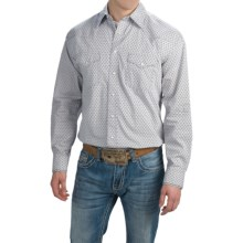 Panhandle Slim Print Shirt - Snap Front, Long Sleeve (For Men) in Grey - Closeouts