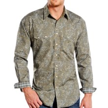 Panhandle Slim Print Shirt - Snap Front, Long Sleeve (For Men) in Liana Vintage - Closeouts