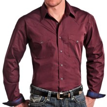Panhandle Slim Print Shirt - Snap Front, Long Sleeve (For Men) in Wine - Closeouts