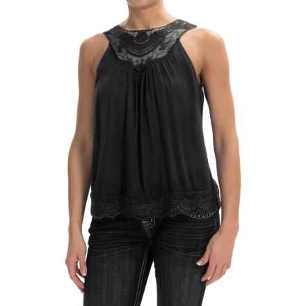 Panhandle Slim Red Label Crepe Shirt - Sleeveless (For Women) in Black - Overstock