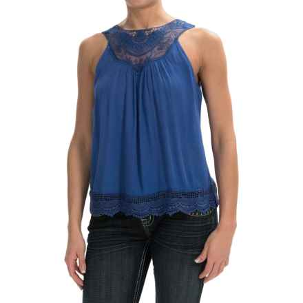 Panhandle Slim Red Label Crepe Shirt - Sleeveless (For Women) in Light Navy - Overstock