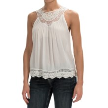 Panhandle Slim Red Label Crepe Shirt - Sleeveless (For Women) in Natural - Overstock