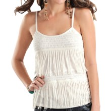 Panhandle Slim Red Label Fringed Camisole (For Women) in Natural - Overstock