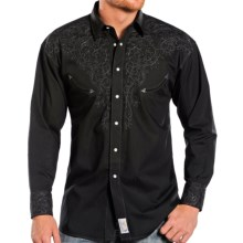 Panhandle Slim Retro Perfectly Paisley Shirt - Snap Front, Long Sleeve (For Men) in Black - Closeouts